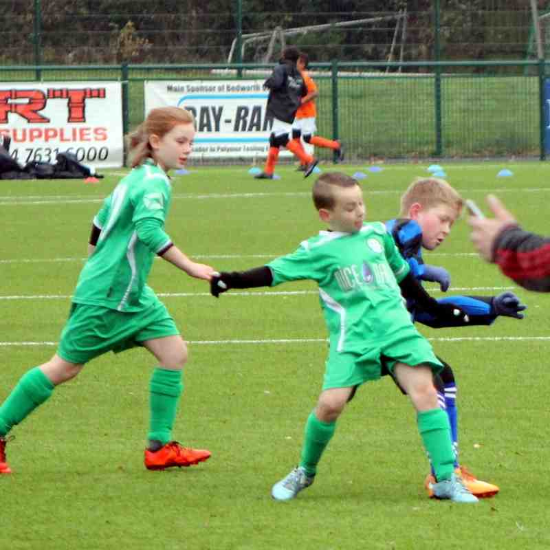 Bedworth United Under 9's Autumn Cup Match home to Ernesford, 22nd November 2015