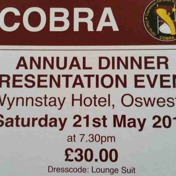 Annual Cobra Dinner ticket's are now Available