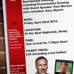 Sportmans Evening - Featuring Paul Merson - Friday 22nd April