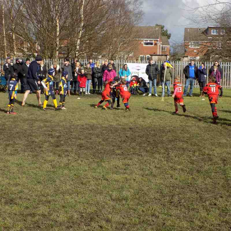 West Bank U7's vs West Houghton (Away) 12-0 WIN