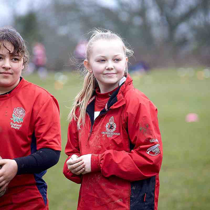 Mini's & Girls training @ Steel Cross 11th March 2018