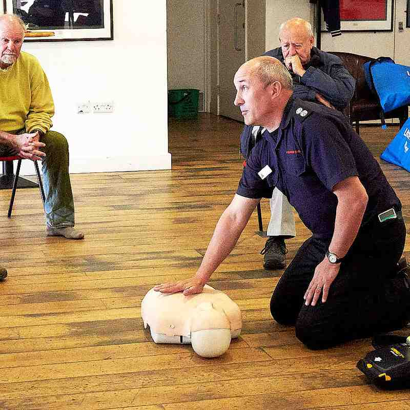 Defib. Demo. for the Friday Club 26th April 2019