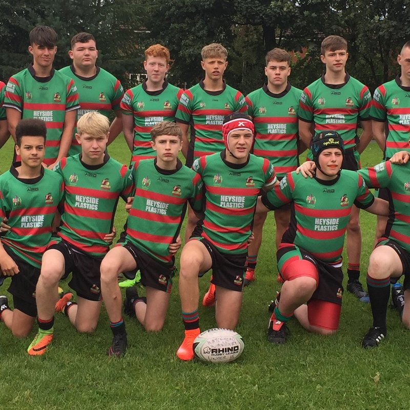 Under 16's beat Saddleworth Rangers 4 - 42