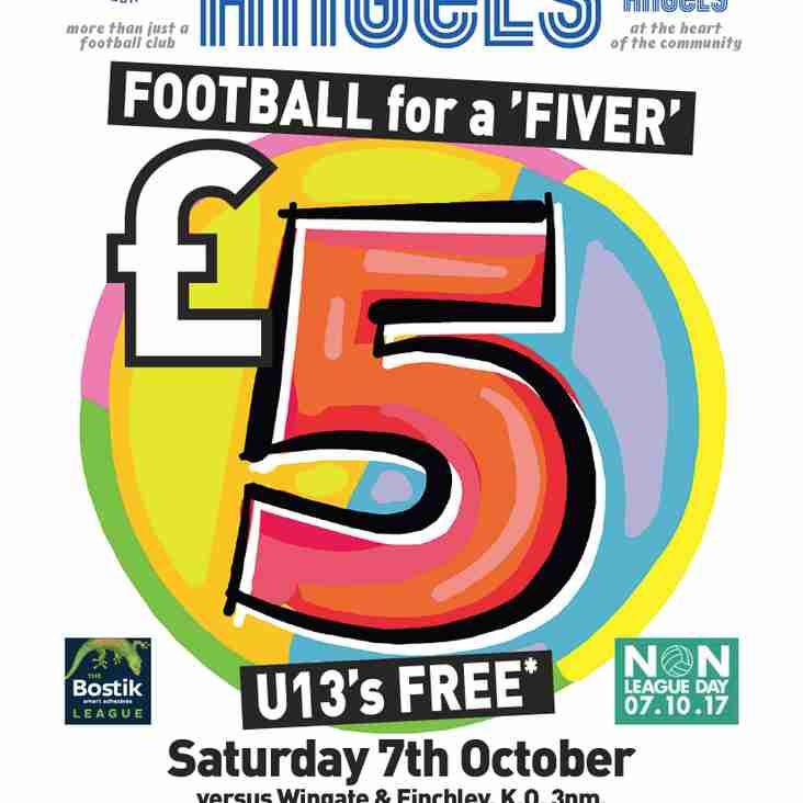 "Football for a ""Fiver"" - Non League Day - TODAY!"