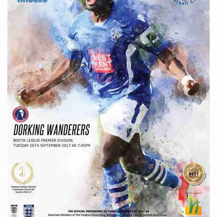 Angels v Dorking Wanderers: Tonight's programme!