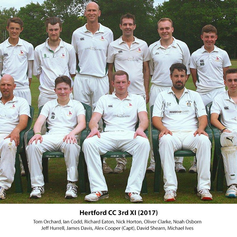 Holtwhites-Trinibis CC - 2nd XI Saturday 205/9 - 198 Hertford CC - 3rd XI