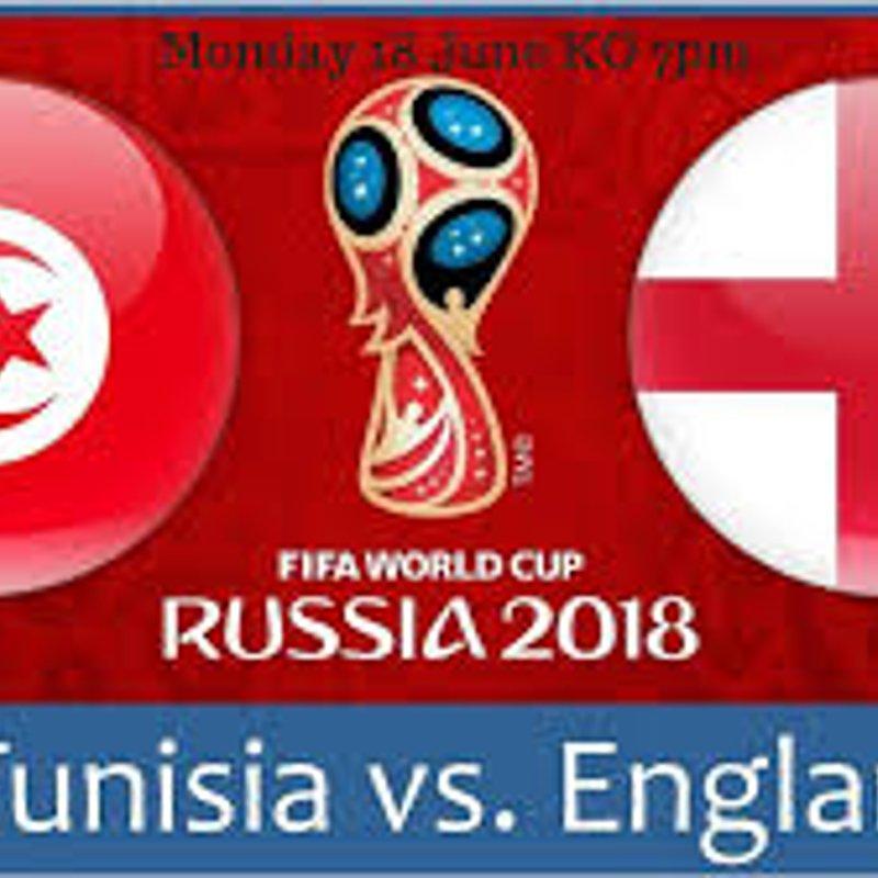 England vs. Tunisia - LIVE On The Big Screen