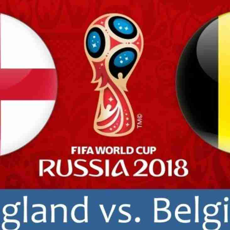 England vs. Belgium - Watch at the Club