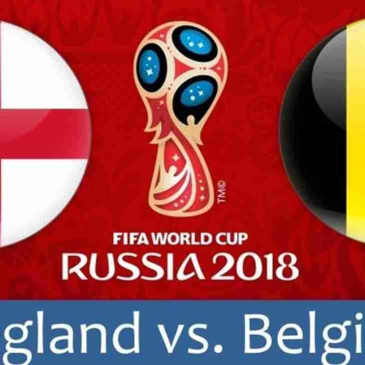 England vs. Belgium - Watch at the Club
