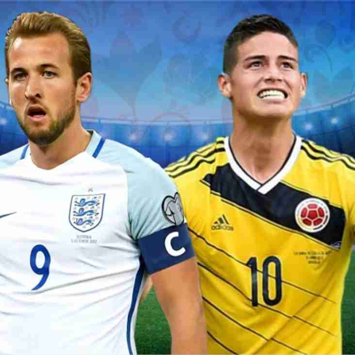 England vs. Colombia - LIVE Tonight on the Big Screen