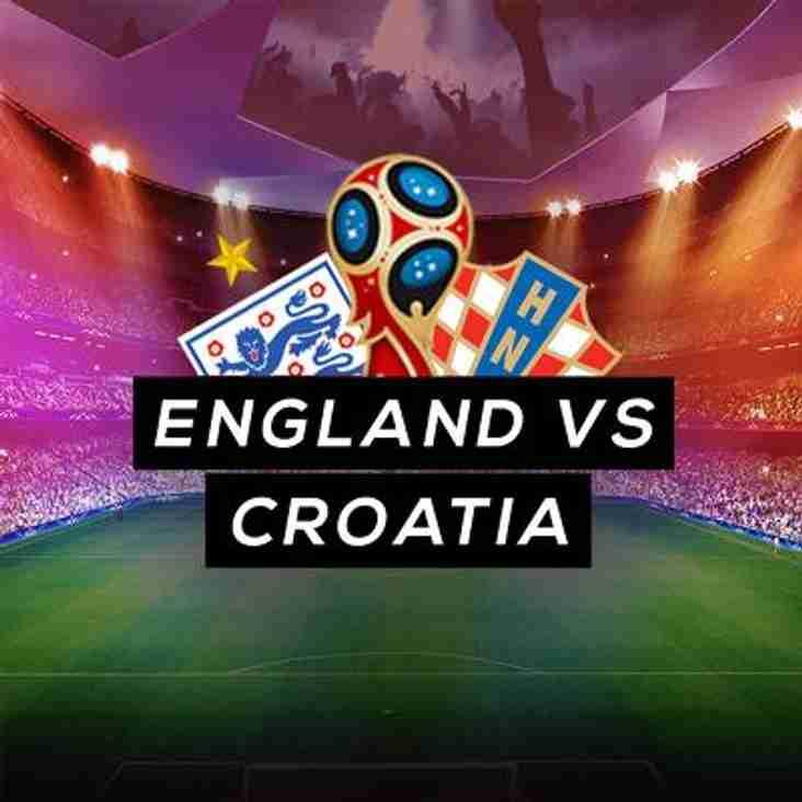 England Vs. Croatia - World Cup Semi Final!