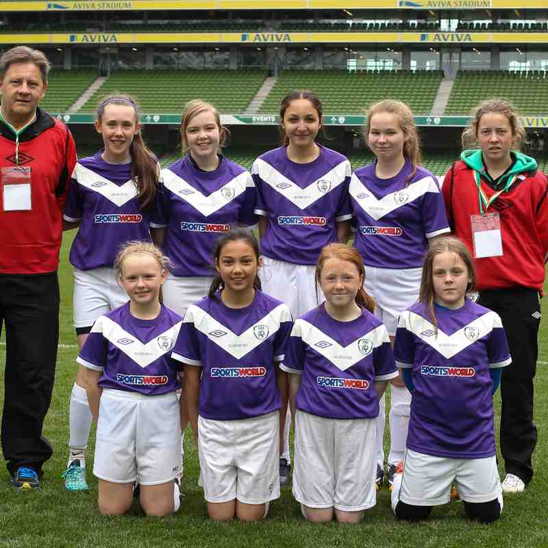 MRFC Girls U 14 Aviva Stadium