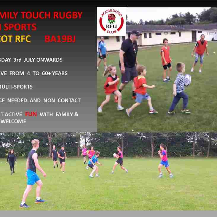 Family Touch Rugby - its back