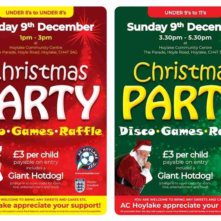 AC Hoylake Christmas Parties