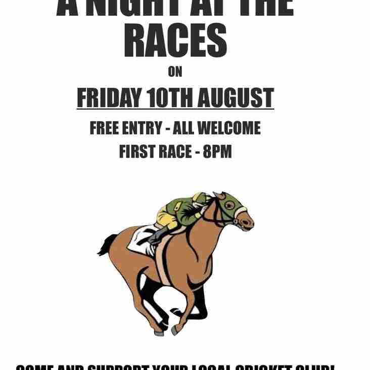 Annual Race Night to be held next month