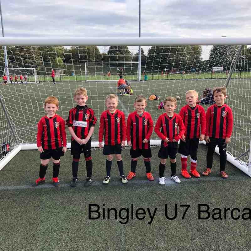 Bingley U7 Teams at the Marley tournament