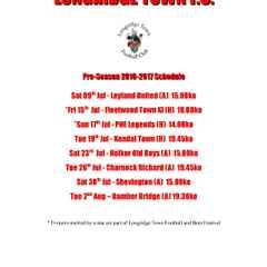 PRESEASON Fixtures