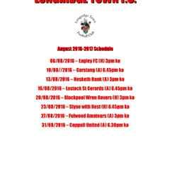 August Fixtures Released!