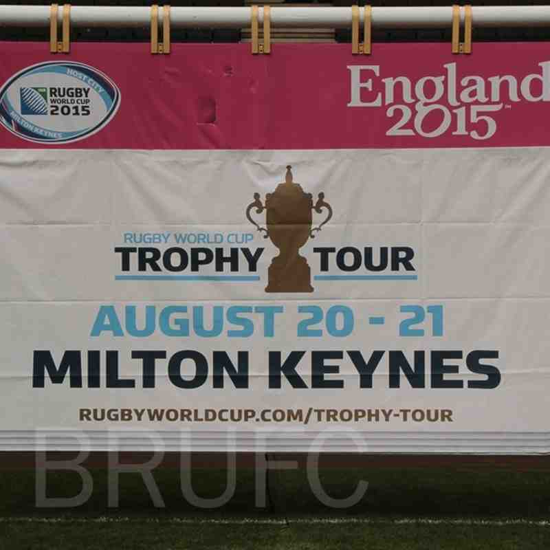 RWC15 Trophy Tour at Stadium MK with ex England womens star Maggie Alphonsi