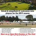 Open Nets at The Oval on Sunday Feb 3rd