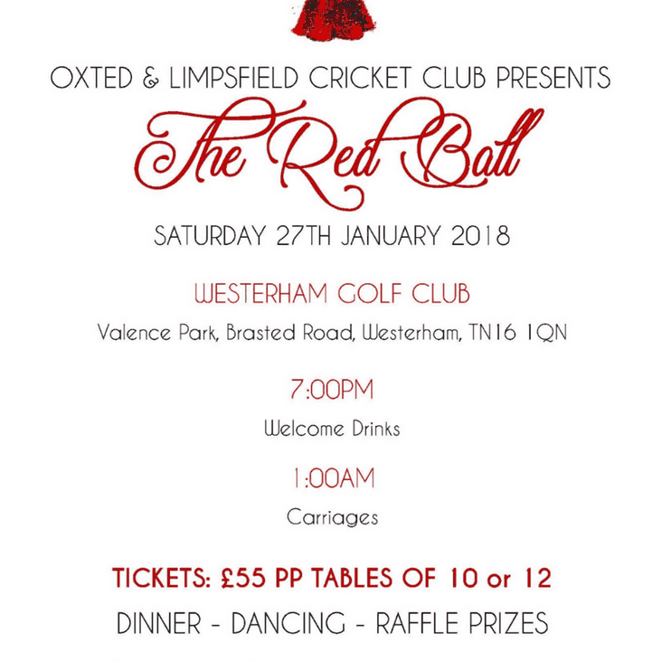 Buy Your Tickets Now for the OLCC - Red Ball - 27 January 2018
