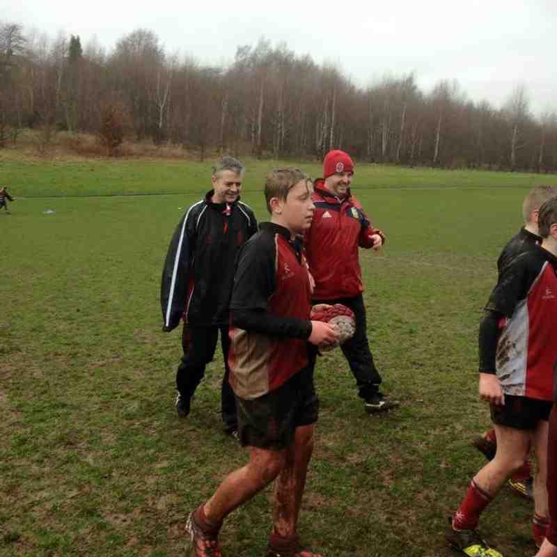 U13 Team winning the semi final of Staffordshire Plate Sunday 8th March 2015