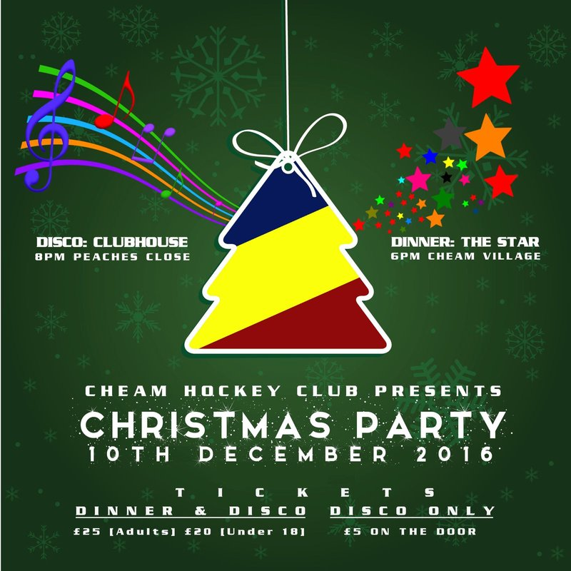 Cheam HC Christmas Do - 10th Dec 6:00pm