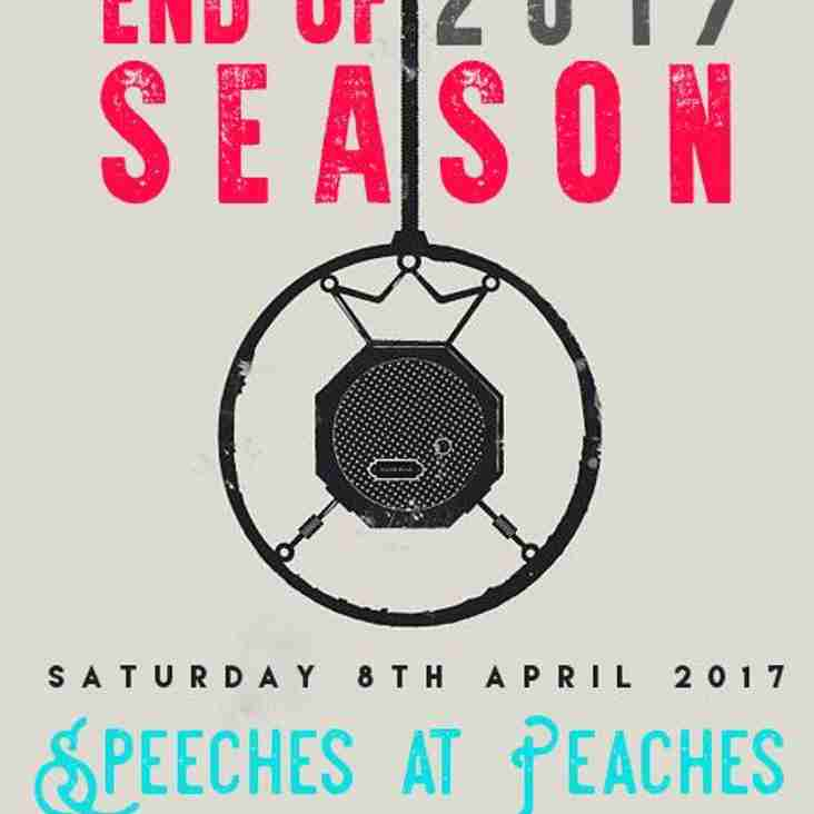 CHC End of Season Do 8th April