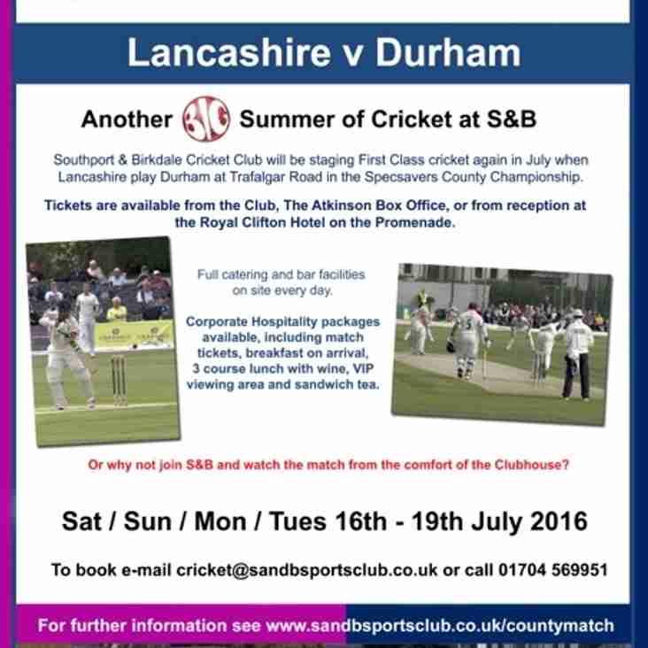 Lancashire v Durham @ Southport