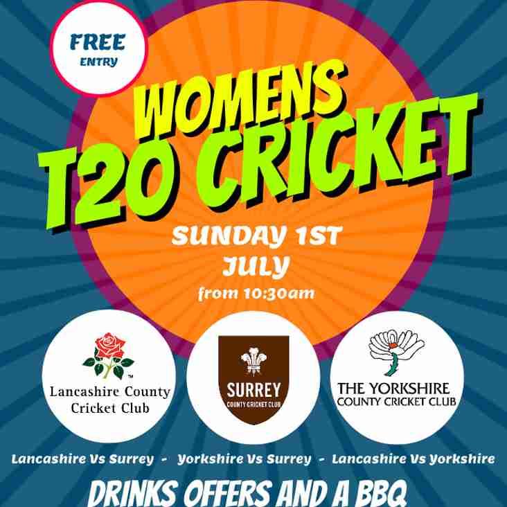 Womens T20 Cricket @ Widnes