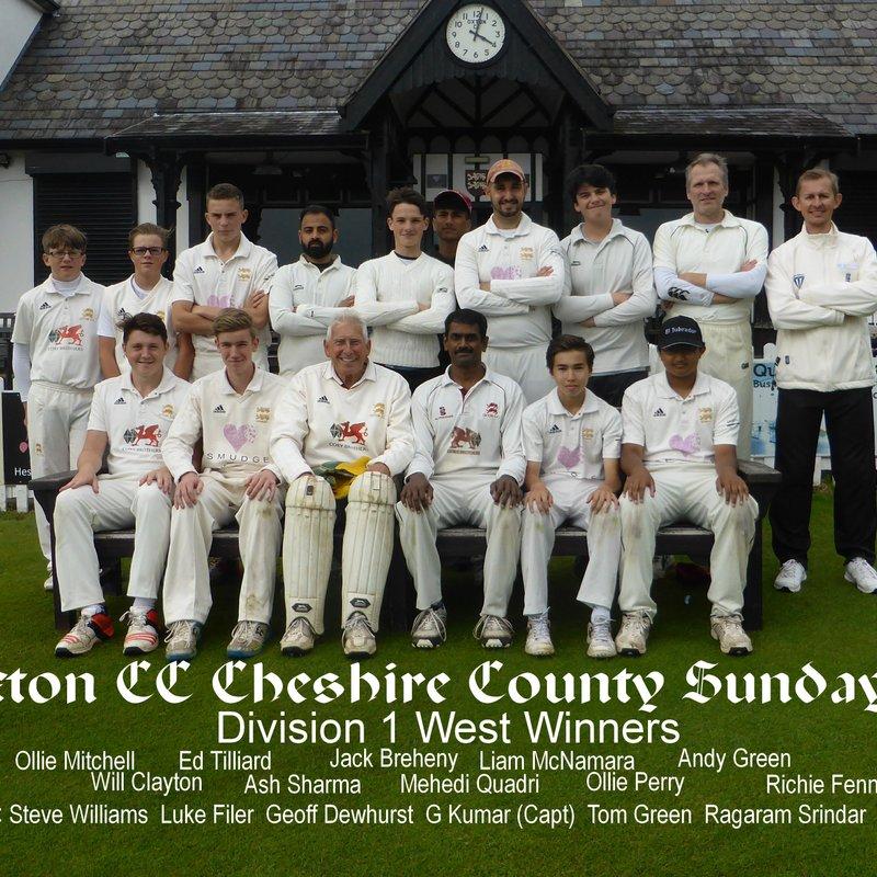Oxton CC, Cheshire - Sunday 3rd XI 150 - 226/4 Nantwich CC - 3rd XI