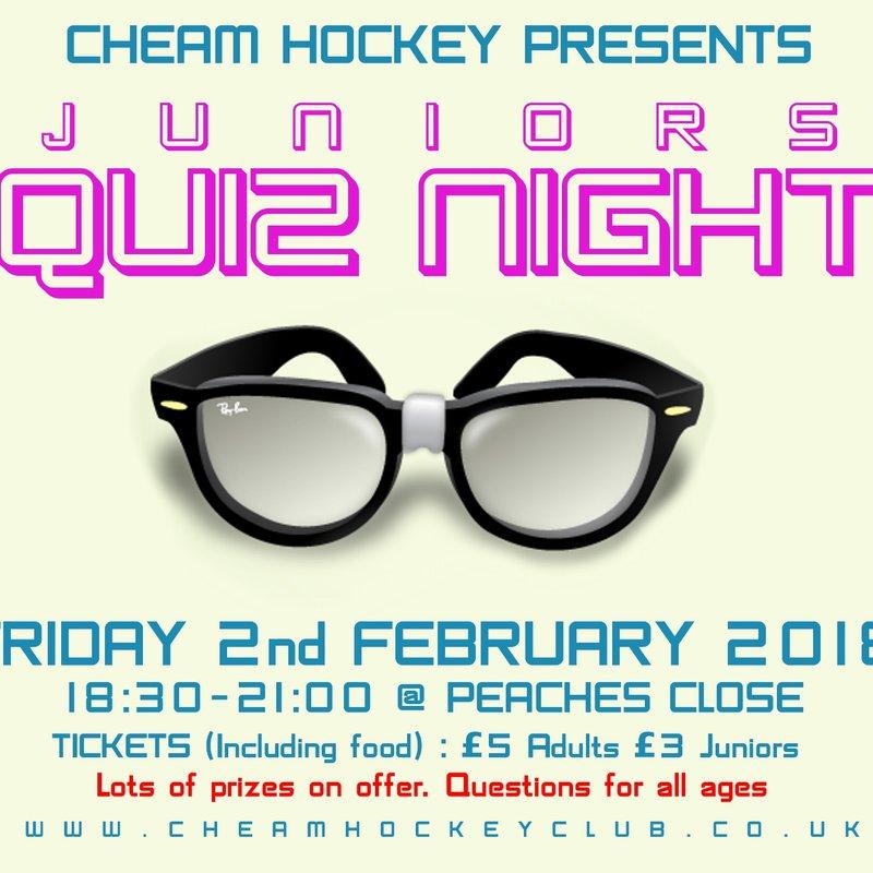 Junior Quiz Night Friday Feb 2nd