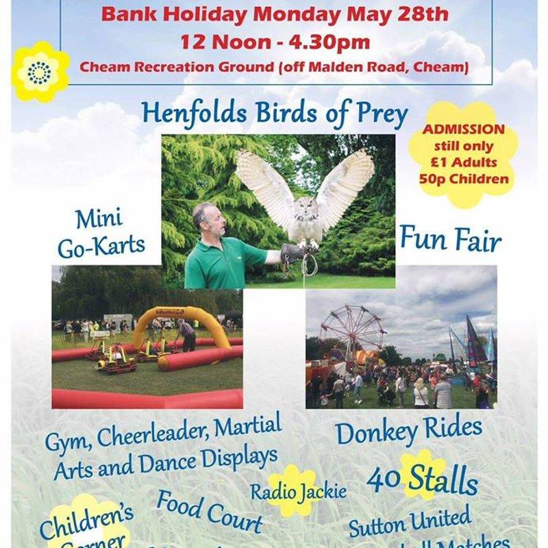 Cheam HC at Cheam & Sutton Rotary Fair - Bank Holiday Monday, May 28