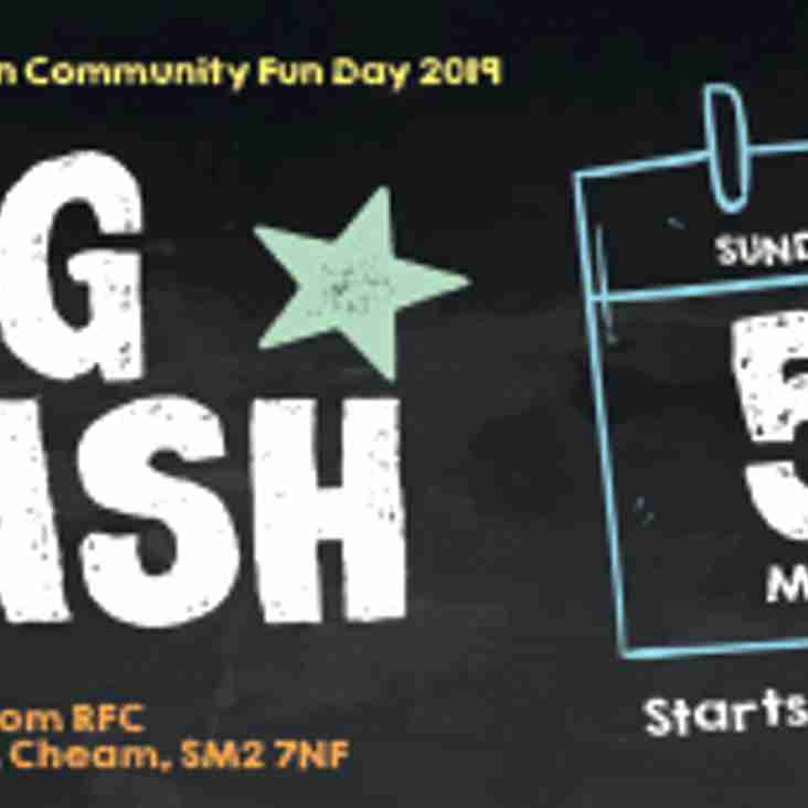 Sutton Rugby's Big Bash Family Day - cancelled