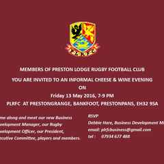 MEMBERS' CHEESE AND WINE OPEN EVENING, FRIDAY 13 MAY