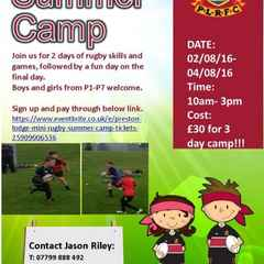 PL PIRATES SUMMER CAMP 2016