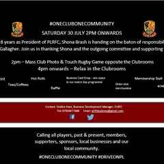 #ONECLUBONECOMMUNITY SATURDAY 30 JULY 2PM ONWARDS