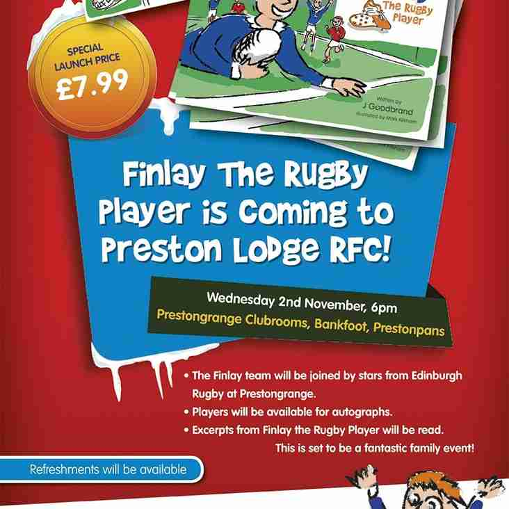 FINLAY THE RUGBY PLAYER - BOOK EVENT