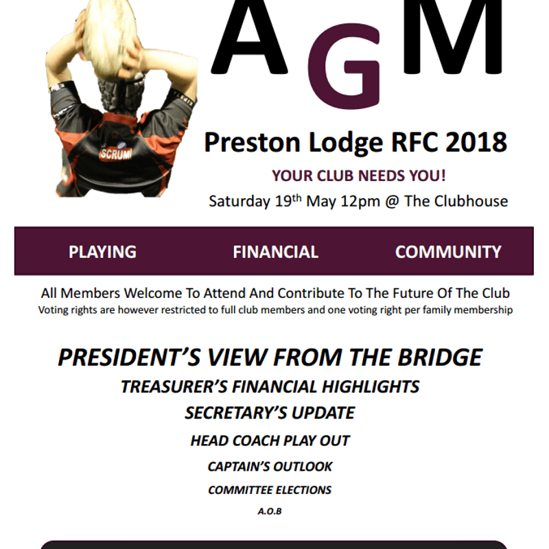 AGM 19 MAY 12 NOON