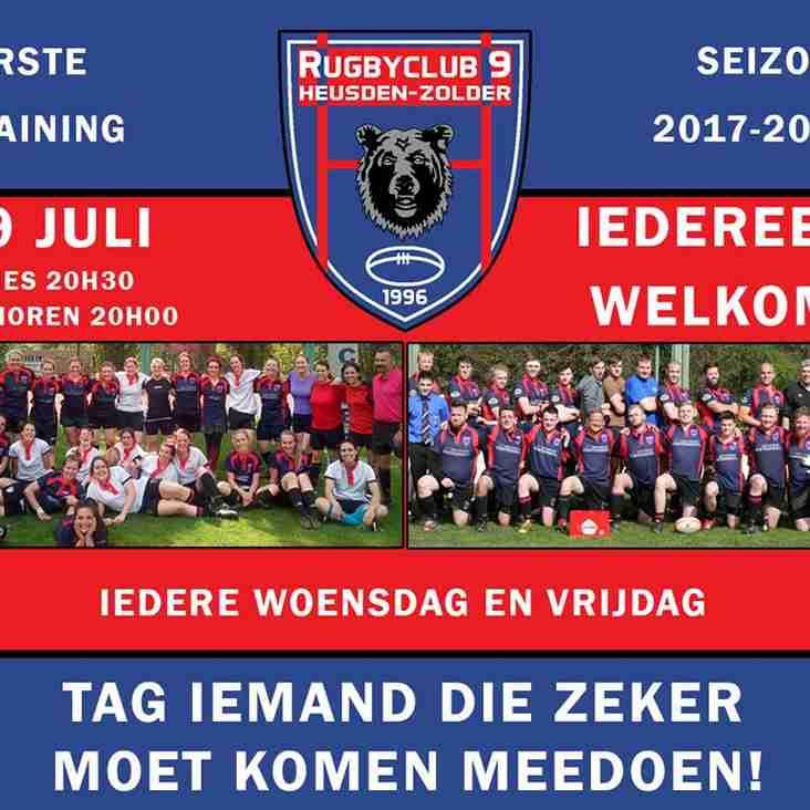 Start Trainingen 2017-2018