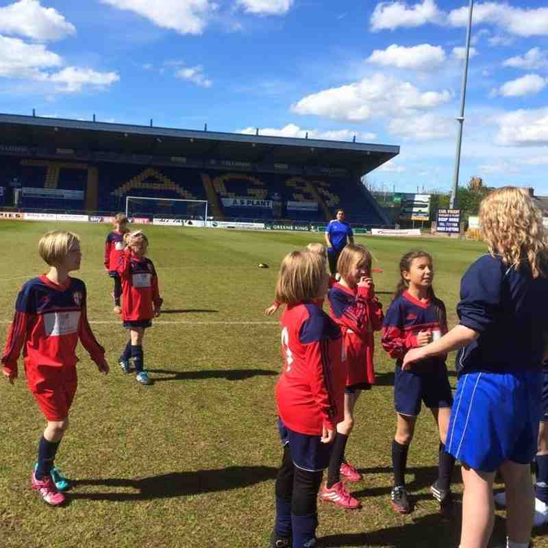 Quarrydale United U10s Girls at the One Call Stadium