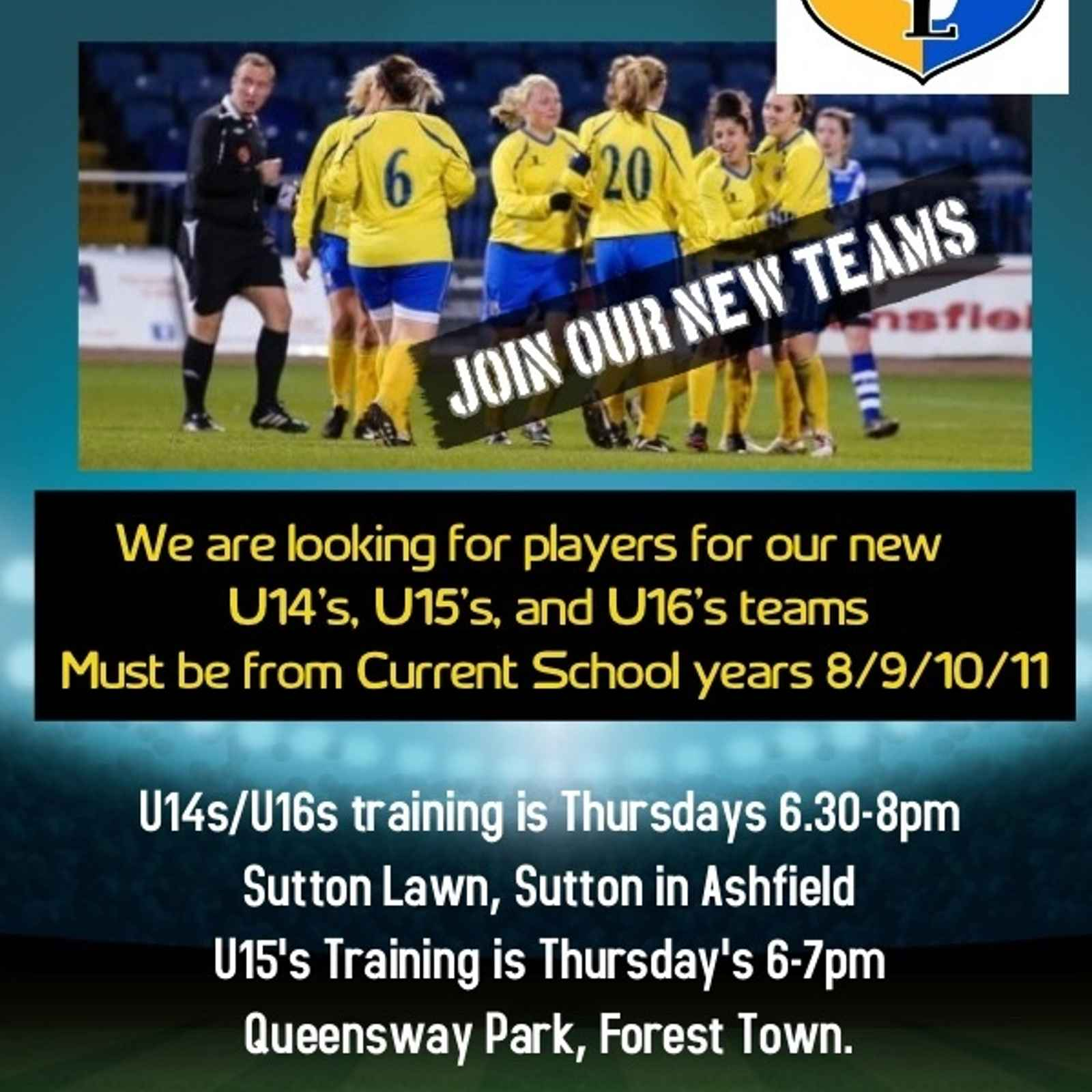 Additional Players Wanted - New Junior u14/u15/u16 teams