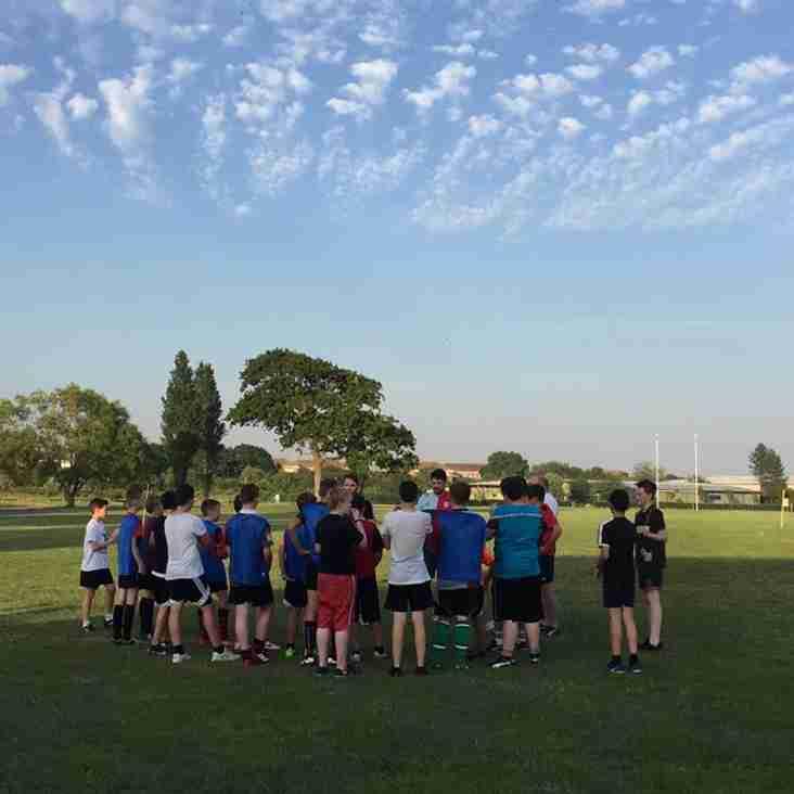 U13's & U14's enjoy Quins community coaching in the Sun