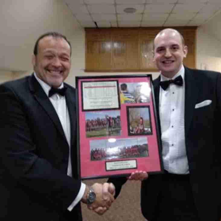 Dave Wheaton recognised at Club Dinner