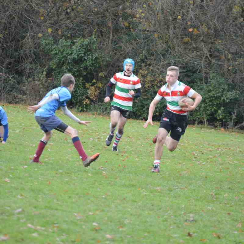 under 14's v Wilmslow 27th Nov 16