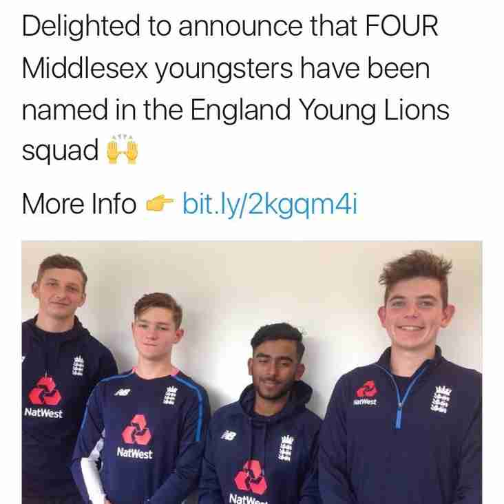 Ethan and Luke picked for England Young Lions