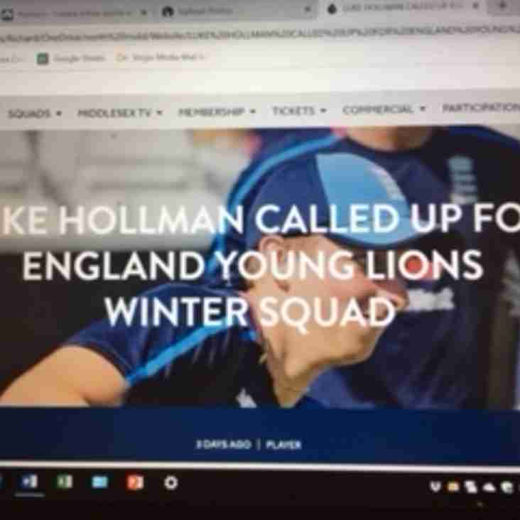 The Midd's Hollman called up for England Young Lions