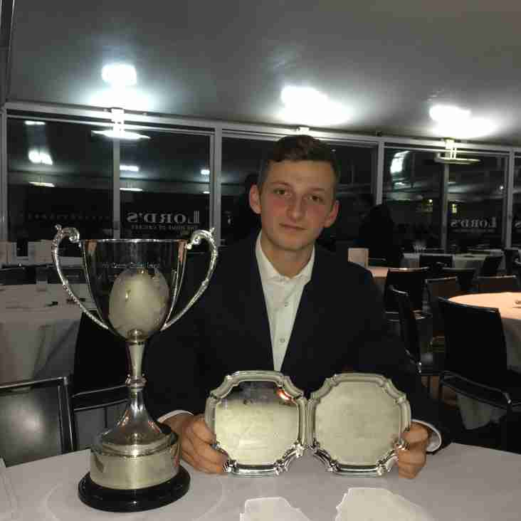 MCCL Dinner – 2s and 3s collect Championship Trophies; Top Awards for Luke!