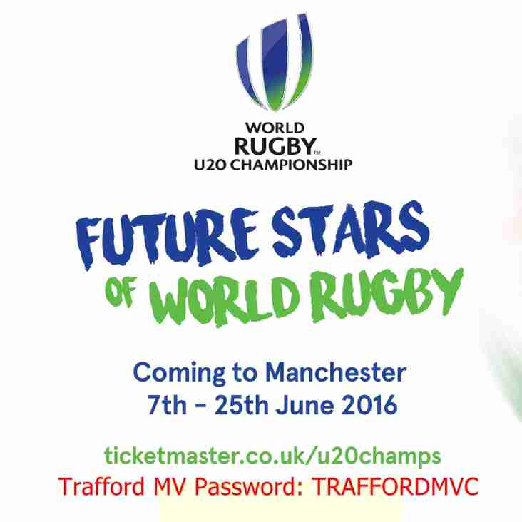 Ticket information WORLD RUGBY U20 CHAMPIONSHIP 2016 - MANCHESTER 7th -25th June