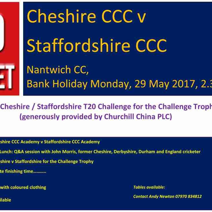 Cheshire / Staffordshire T20 challenge